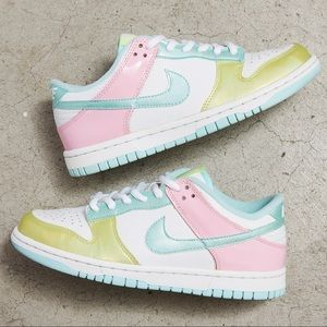 Nike Dunk Low GS 'Glacier Ice/Perfect Pink'